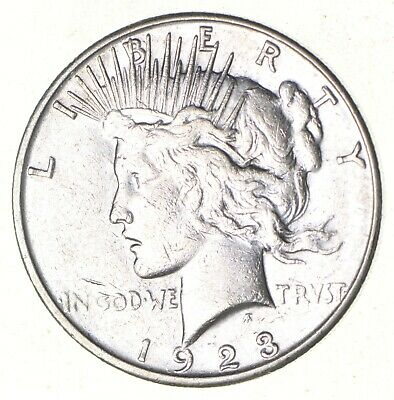 Early - 1923-S - Peace Silver Dollar - 90% US Coin *552