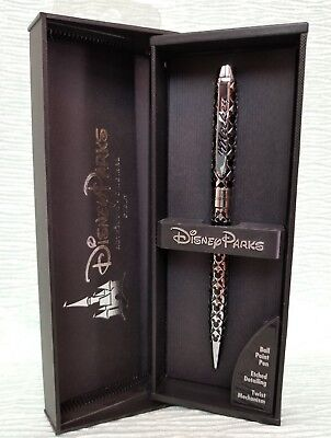 Disney Chrome & Black Embossed Micky Mouse Pen Executive Collection NEW in case
