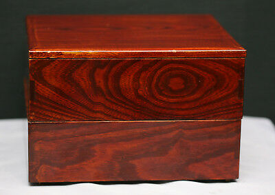 Superb Quality Antique Chinese Handmade Lacquered Wooden Stacking Box c1910s
