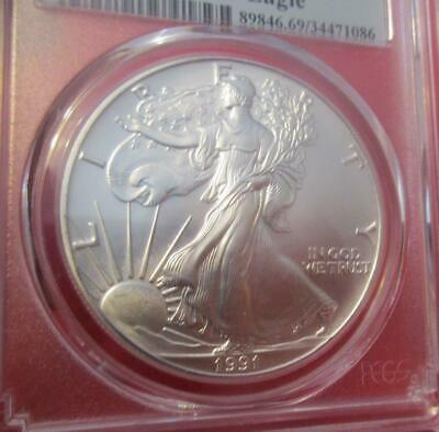 1991 First Strike PCGS MS69 Silver Eagle. ASE                                MF-