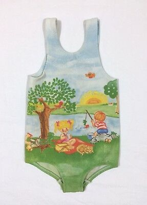 VTG Carter's Toddler Girl's Bathing Suit Swimwear Summer Picnic Graphics 2T-3T