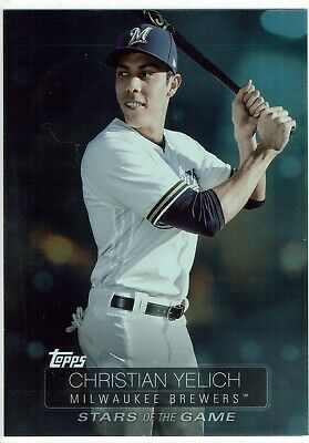 2019 Topps Series 1 Christian Yelich Brewers Stars Of The Game Insert Card