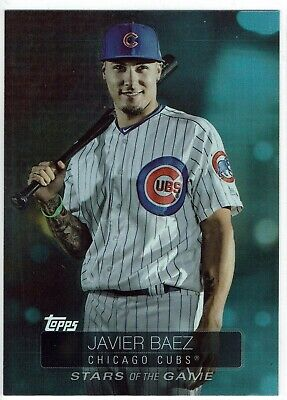 2019 Topps Series 1 Javier Baez Chicago Cubs Stars Of The Game Insert Card