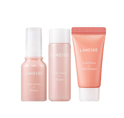[LANEIGE] Fresh Calming Trial Kit (3items) Gel Cleanser+Toner+ Serum- 15/25/10ml