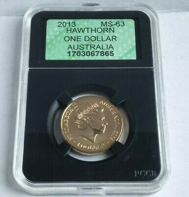 Australia  2013 CERTIFIED  UNCIRCULATED $1 COIN.  AFL Premiers - Hawthorn.