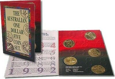 1984 - 1992 The Australia  $! Uncirculated Five Coin Set
