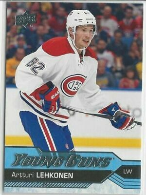 2016/17 ARTTURI LEHKONEN UPPER DECK YOUNG GUNS ROOKIE #232 Montreal Canadiens