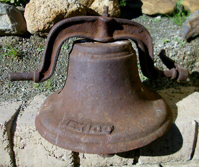 Antique, cast-iron, primitive, upright MEXICO bell ex School house/church
