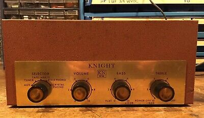 Vintage 1950s Knight KN610 Integrated Amplifier Project works 6bq5 12ax7 EZ80
