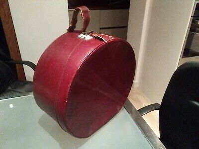 Vintage Hat Box Or Vanity Case By ANTLER, Cheney Lock wedding re enactment red