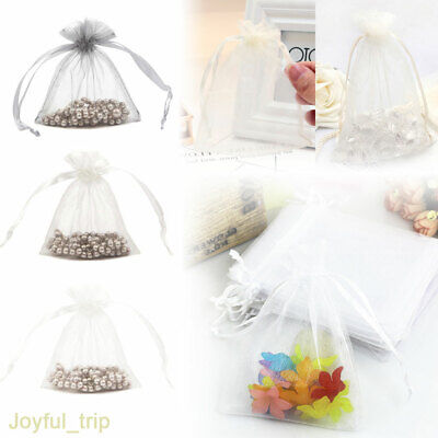25/50/100Pcs Luxury Organza Gift Bags Wedding Party Favour Candy Jewellery Pouch