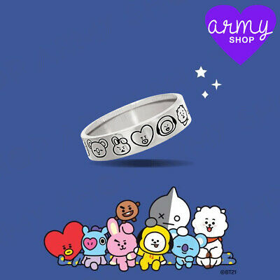 BTS BT21 x OST New Authentic Official MD 7 Character Silver Ring Freeshipping