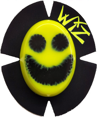 Smiley Face  Wiz Knee Sliders (1 Set) - HIGH VIZ YELLOW