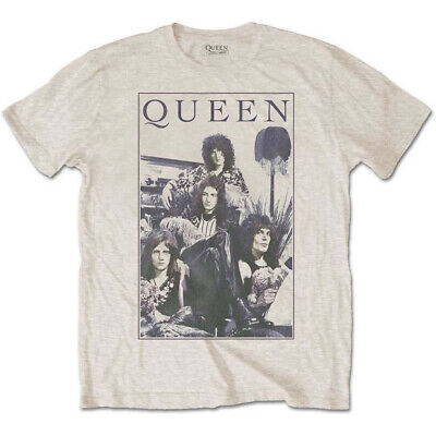 Queen 'Vintage Frame' (Sand) T-Shirt  - NEW & OFFICIAL!