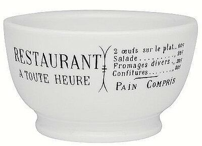"""Pillivuyt France, Brasserie, French Porcelain 5.5"""" Coffee / Cereal Bowls, New"""