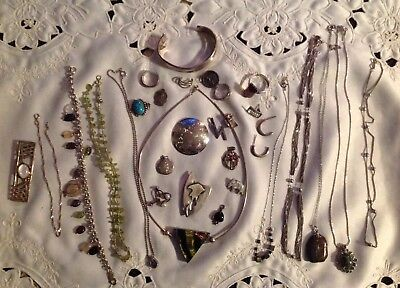 162 Grams Lot Of Sterling Silver 925 Jewelry All Wearable No Scrap