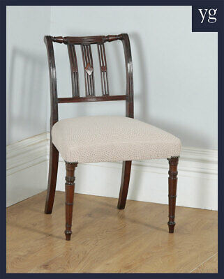 Antique English Georgian Regency Mahogany Dining Side Office Desk Library Chair
