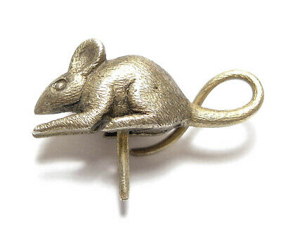 Beautiful Small Vintage / Antique Silver Mouse Unfinished Piece Jewellery (A23)
