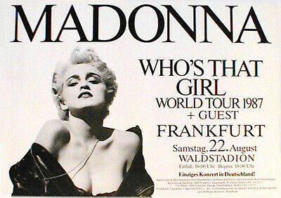 MADONNA rare concert poster from 1987  rolled