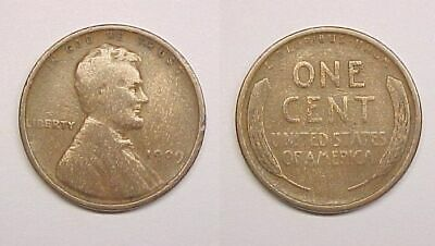 1909 P NO-VDB Lincoln Cent Very Good - Fine VG - F