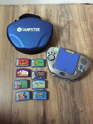 Leapfrog LEAPSTER LOT With 8 Games And Case
