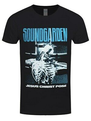 Soundgarden Herren T-Shirt Jesus Christ Pose schwarz