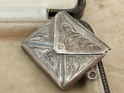 Antique Chester Sterling Silver Stamp Case Fob