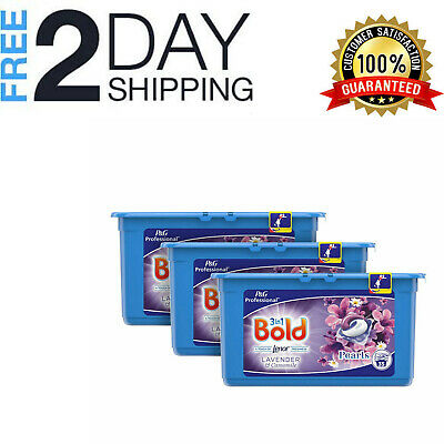 Washing Capsules 3 X 35 Pack Bold 3 In 1 Laundry Lavender Detergent Tablets Pods