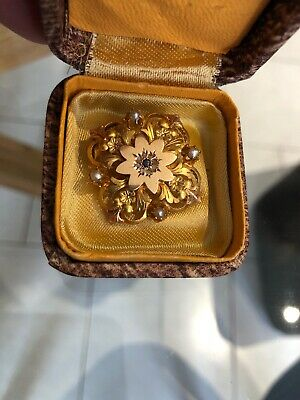 broche or 18 carats ancienne
