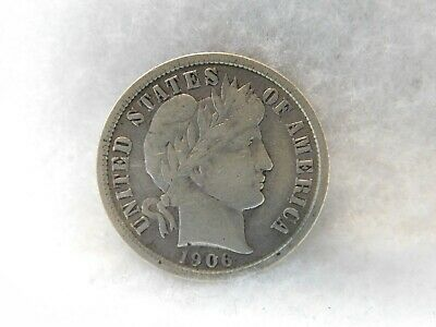 United States 1906 Barber Silver Dime Coin (51)