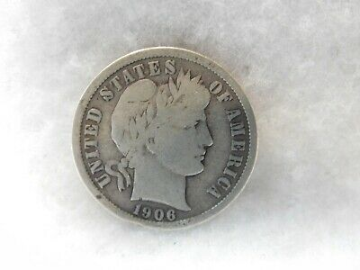 United States 1906-S Barber Silver Dime Coin (52)