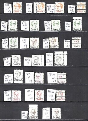 Canada 24 DIFFERENT CARICATURES SCOTT 588/592 VF MINT NH (BS12445-1)