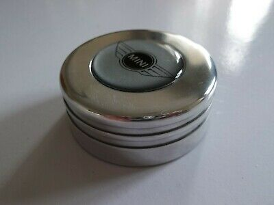 Classic Mini MPI Billet Alloy Expansion Cap Cover Black Silver Wing