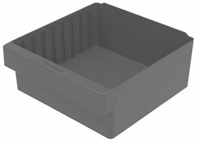 Akro-Mils Drawer Bin, 11-5/8x11-1/8x4-5/8 In, Gray - 31112GRY