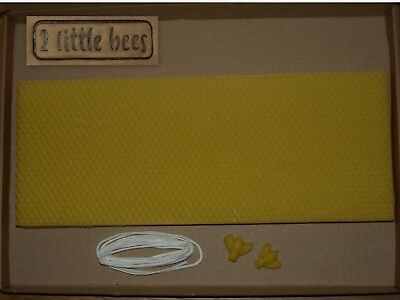 Beeswax Candles Making Kit Sheets 32 x 13cm Cotton Wick Rolled Craft Candle UK
