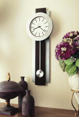 Howard Miller Deluxe Quartz Wall Clock--Contemporary-styled Combines Metal/Wood