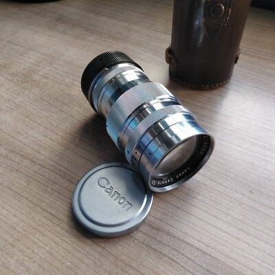 Canon 85mm f2 LTM with case and 85mm finder (Leica M adapter included)