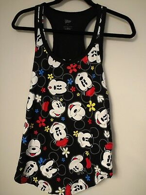 fdfe3c94a3f597 NEW  DISNEY LADIES Minnie and Mickey Mouse Faces Tank Top (fits size ...