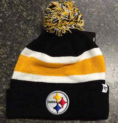 40ffb3b26 Pittsburgh Steelers '47 Brand Breakaway Cuff Knit Hat - Brand New