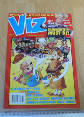 Viz Issue 84 with London Taxi on Front inside stapled unpside by printers!