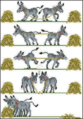 Donkeys Cross Stitch Chart Digital Format