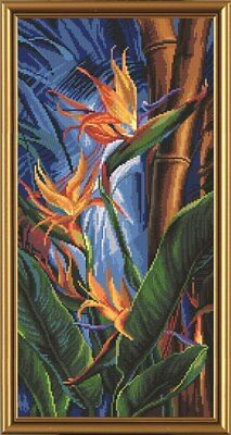 Bird of Paradise Plant Cross Stitch Chart