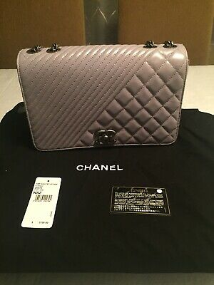 82961cc304ee12 BNIB AUTHENTIC CHANEL Runway Coco Sand Single Flap PVC/Leather ...