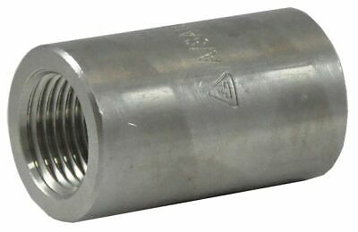"304 Stainless Steel Coupling, FNPT, 3/8"" Pipe Size - 2UA50"