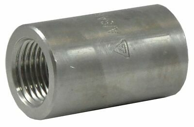 "316 Stainless Steel Reducing Coupling, FNPT, 1"" x 3/4"" Pipe Size - 2UA29"