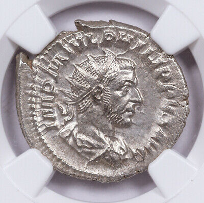 AD 244-249 Roman Empire Silver Double-Denarius of Philip I NGC MS SKU57095