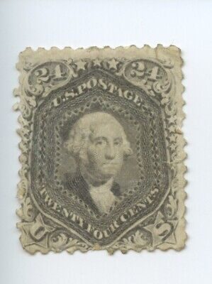 USA Scott #78 - 24c Postage Stamp, Black Washington, Mint