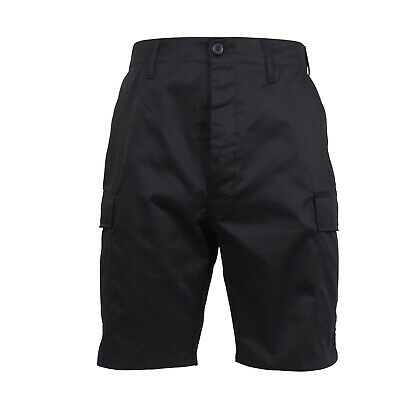 BDU Cargo Shorts Black Military Rothco XS - 6XL