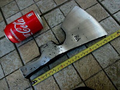 Antique Enormous Huge Giant Rare French Tomahawk Axe Hammer Blacksmith Wrought