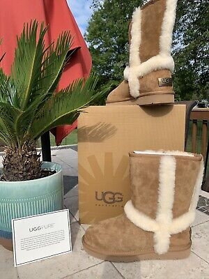 28aaa336318 UGG AUSTRALIA WOMEN'S carter brown and cream suede boots size 7 ...